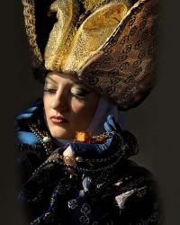 Венецианский костюм синий с золотом