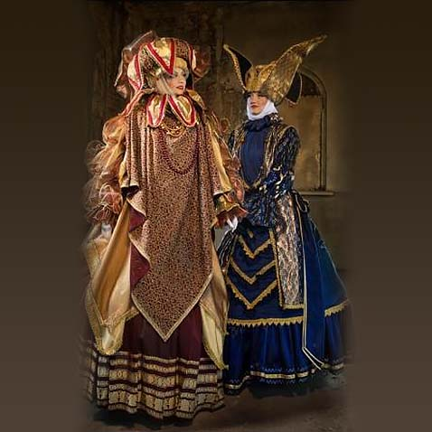 Women in  medieval costume