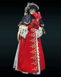 Венецианский костюм красный с черным