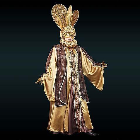 Венецианский костюм золотой
