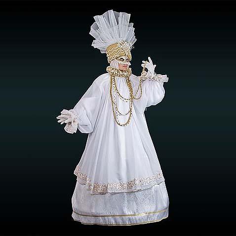Венецианский костюм белый с золотом