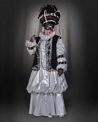 Венецианский костюм серебро